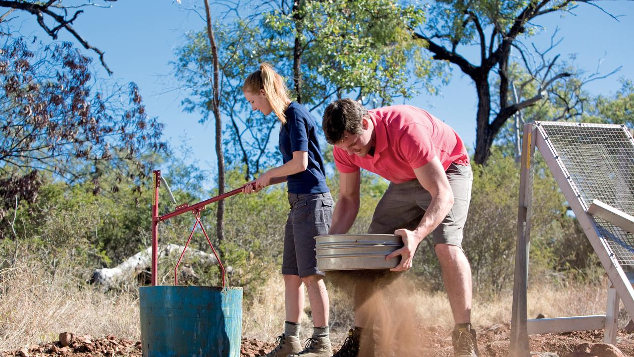Gold prospectors at a Central Queensland fossicking area.