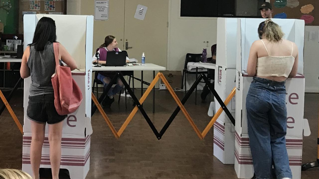 Voters trickled in at Buderim booths on Saturday.