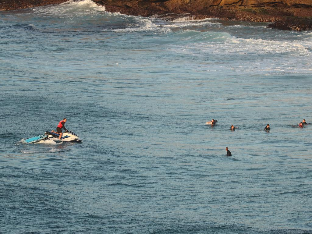 Surfers have been told to leave the water. Picture: John Grainger