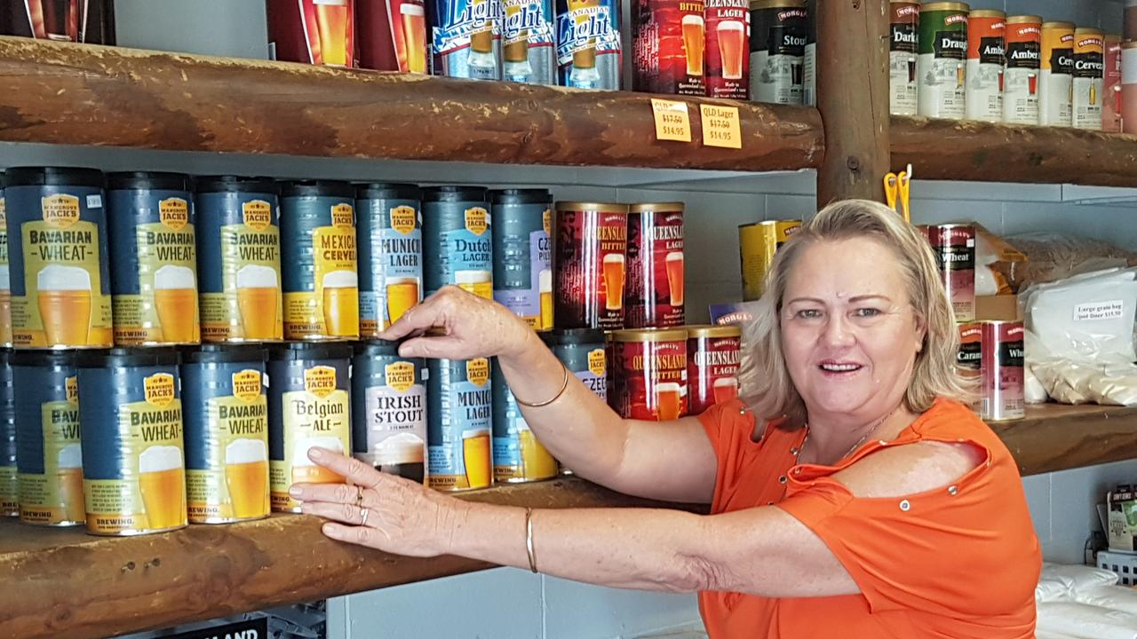 Border Brewing Supplies owner Sue Martin is being kept busy with regulars stocking up and those looking to try their hand at home brew ahead of a possible lockdown due to the COVID 19 crisis. Photo: BOB ANTHONY