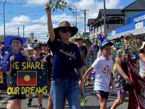 Parading in grape festival as true blue Australians
