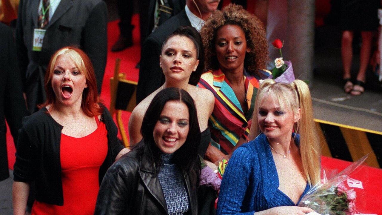 The Spice Girls at the premiere of SpiceWorld The Movie in 1998. Picture: Supplied