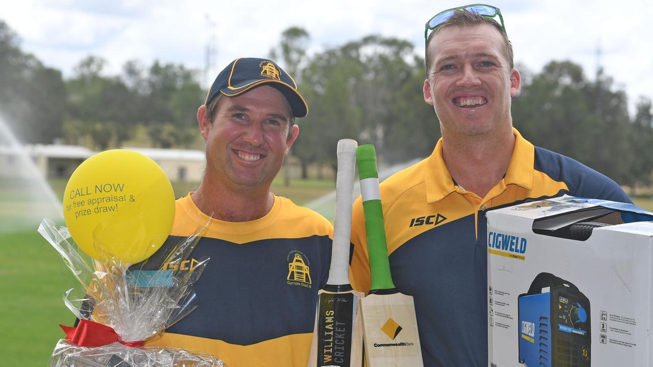 Kenilworth Cricket Club Steve Ledger and Kelvin Cochrane were the organisers of the bushfire fundraiser which president Rod Venn said was one of the highlights of the season. The duo rallied the community and businesses raising close to $12,000.