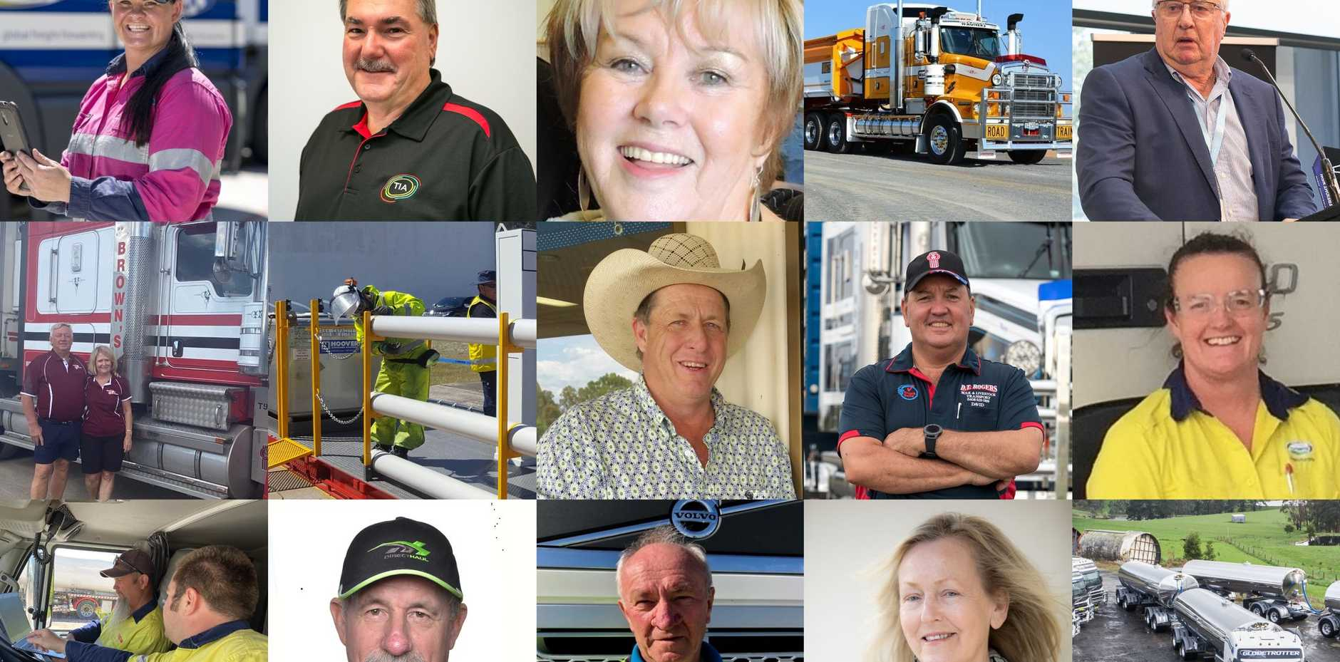 The 2020 finalists of the National Trucking Awards.