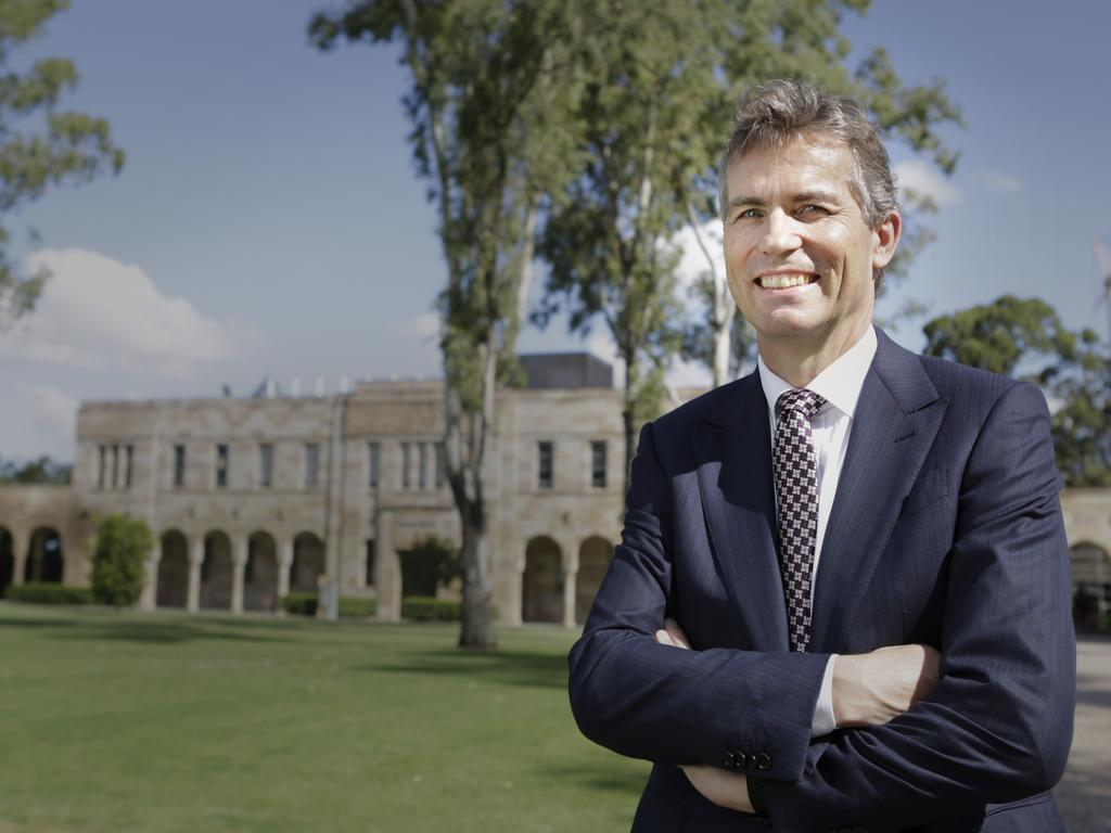 UQ vice chancellor Peter Hoj earned between $1.2 million and $1.215 million. Picture: AAP/Megan Slade