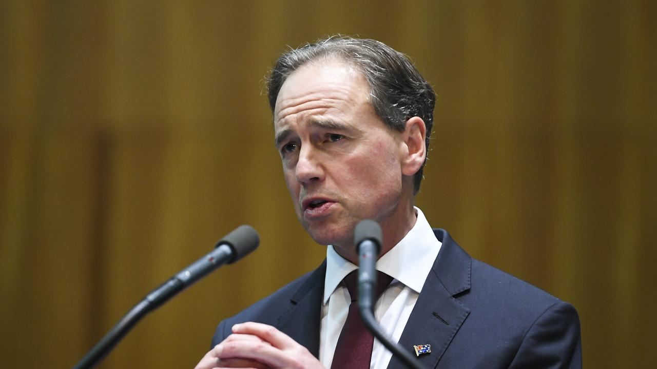 Health Minister Greg Hunt has said he is cautiously optimistic about the trend in new infections. Picture: Lukas Coch/AAP