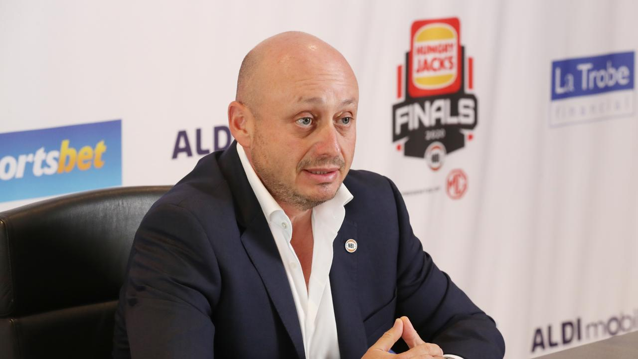 NBL owner Larry Kestelman confirmed Ball's interest in the Hawks. Picture: AAP/David Crosling