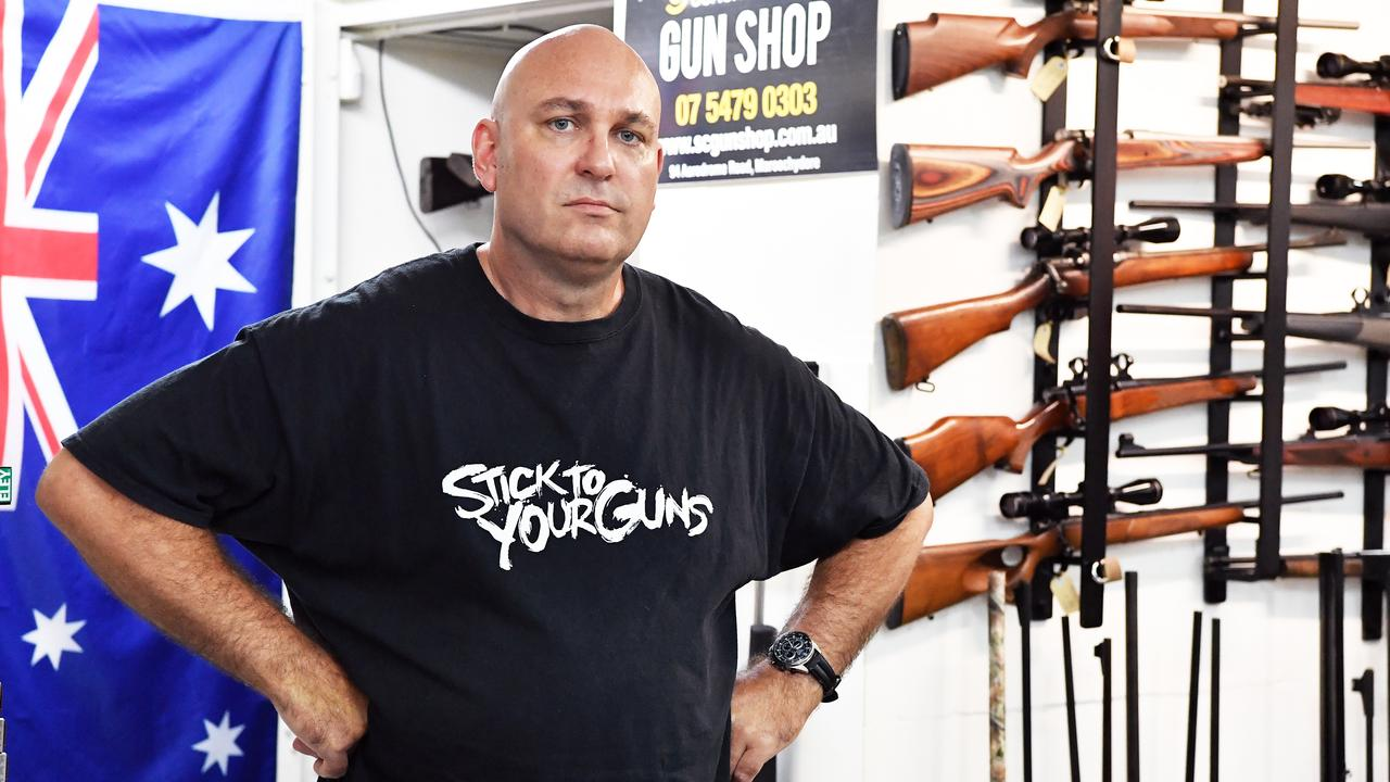 David Longrigg is frustrated gun shops have been deemed non essential services during the coronavirus pandemic. Photo: Patrick Woods