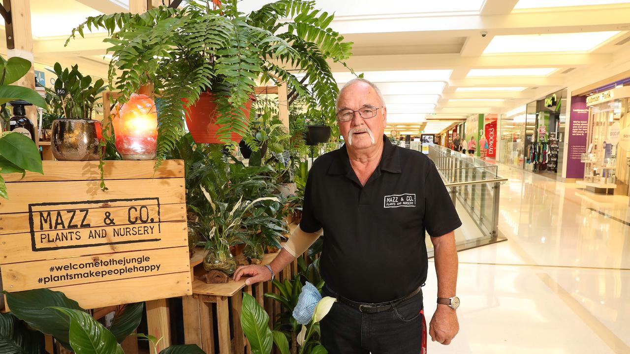 Dave Ellis of Mazz and Co at his plant store at Indooroopilly shopping centre. Photographer: Liam Kidston.
