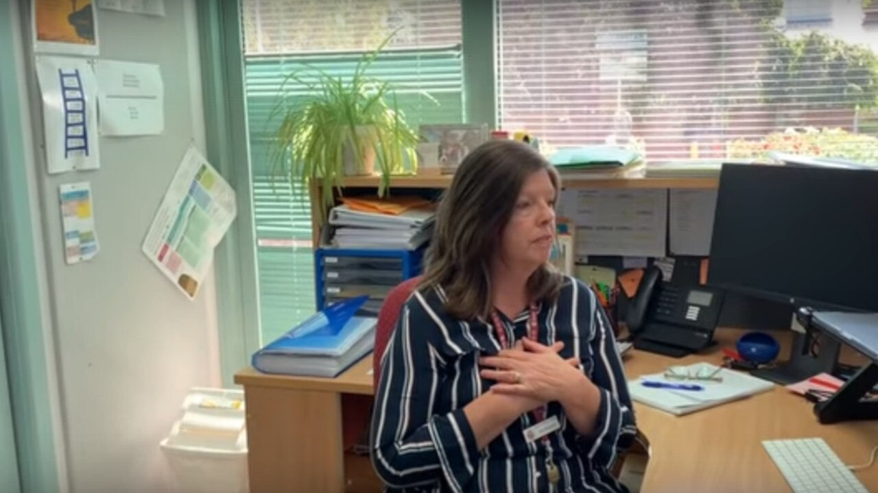 Students may recognise some of their teachers and school staff in the video. Picture: YouTube.