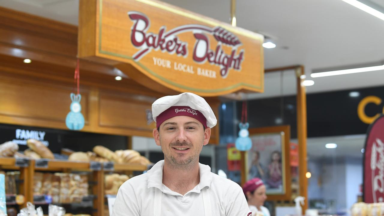 Bakers Delight new owner Chris Cairnduff outside the well known business he has just bought at Goldfields Plaza.