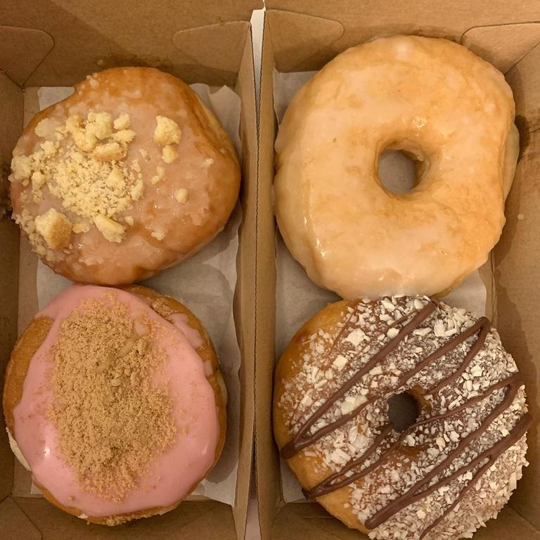 A woman being quarantined at the Sheraton got these doughnuts delivered to celebrate her birthday. Picture: Instagram.