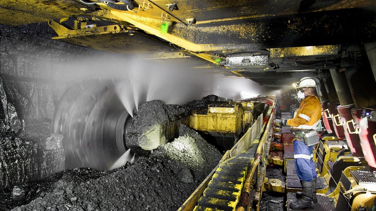 Longwall mining at North Goonyella mine 160km west of Mackay in Queensland's Bowen Basin.