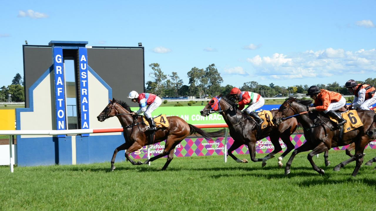 Grafton trainer Greg Howells enjoyed a win at the Clarence River Jockey Club on Tuesday when Kid Galahad took out the Valley Protective Services Class 1 Handicap (1006 metres). Photo: Bruce Thomas