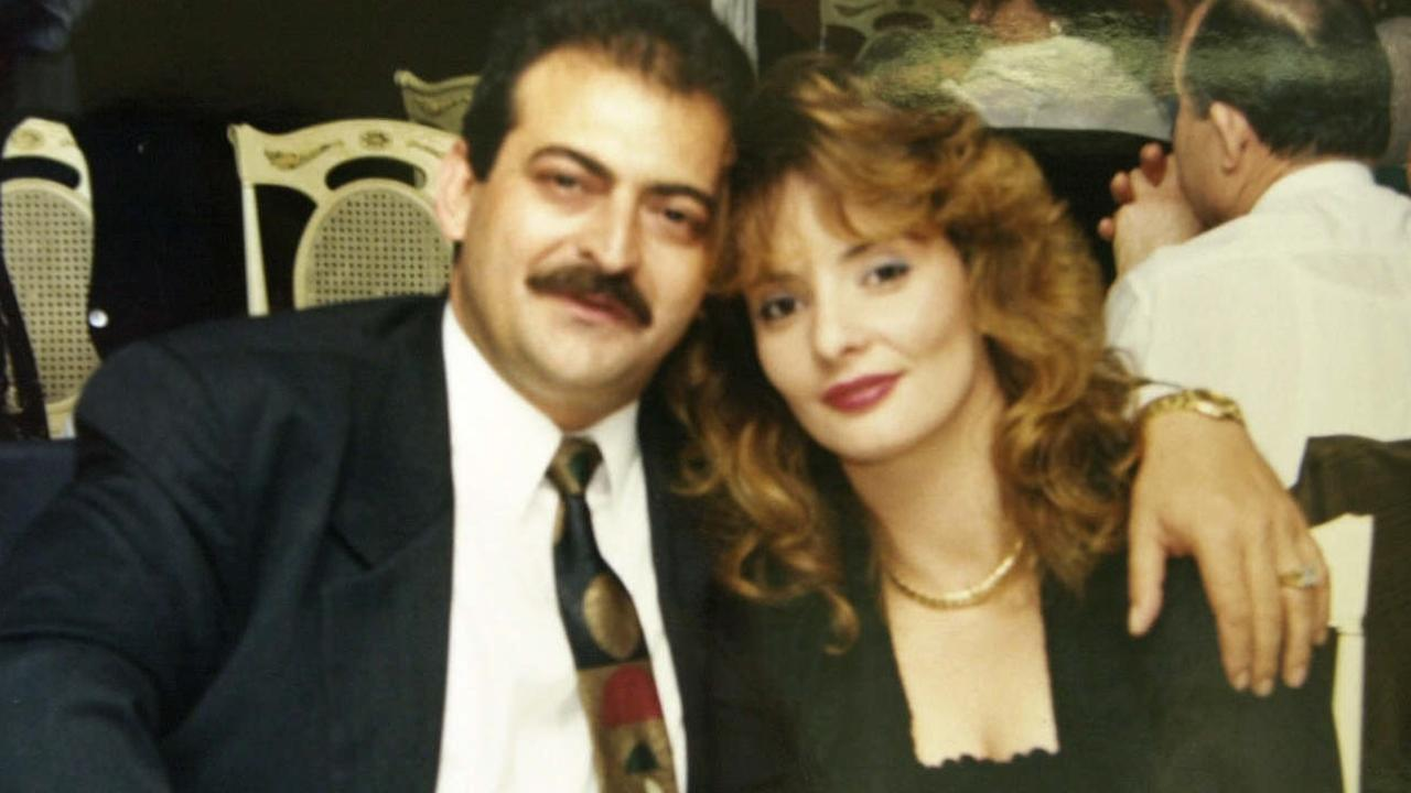Businessman Jim Skouloudis with wife Katerina.