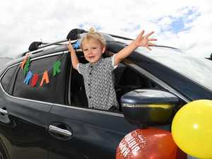 Drive-by birthday party to 'make a little boy smile'