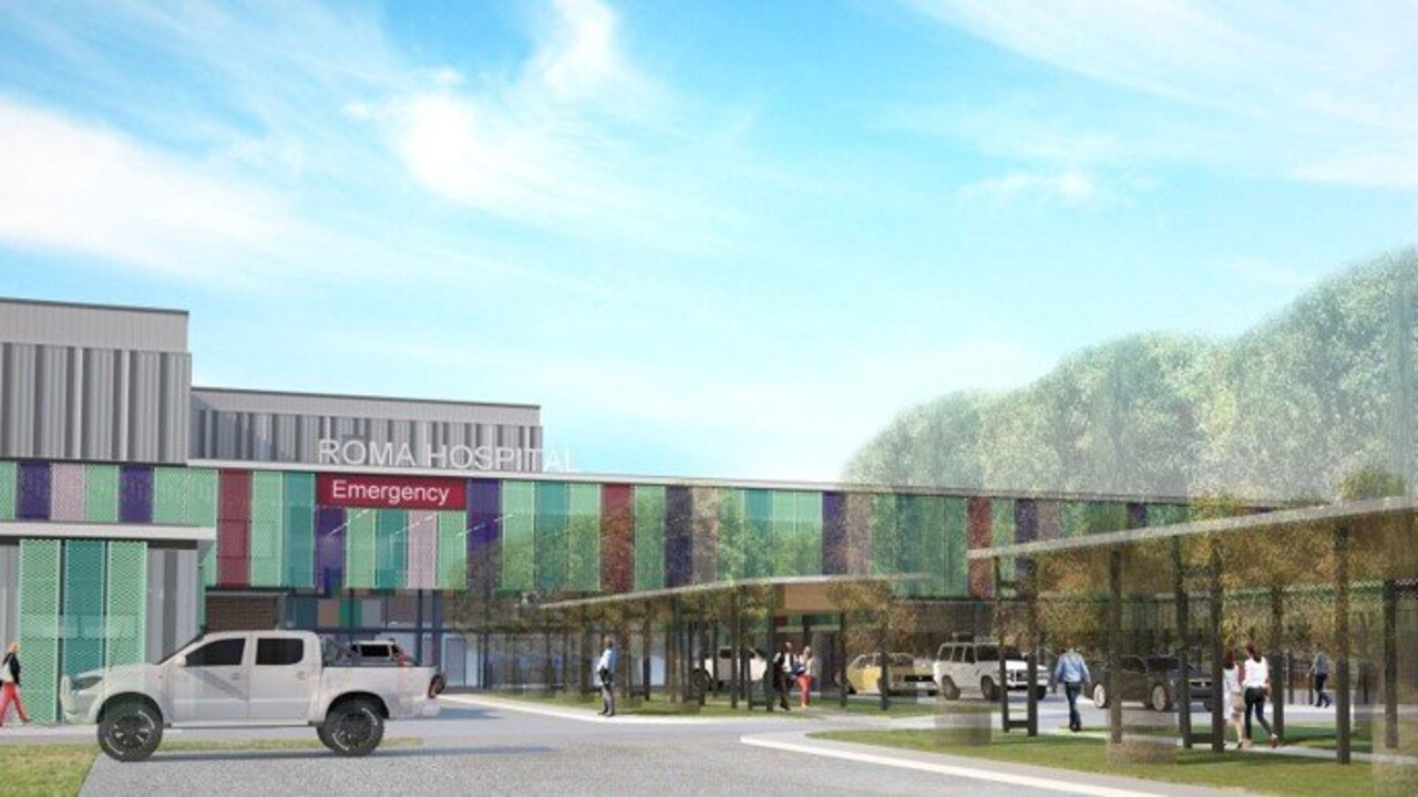 An artist's impression of what the entrance of the new Roma Hospital will look like when it opens later this year.