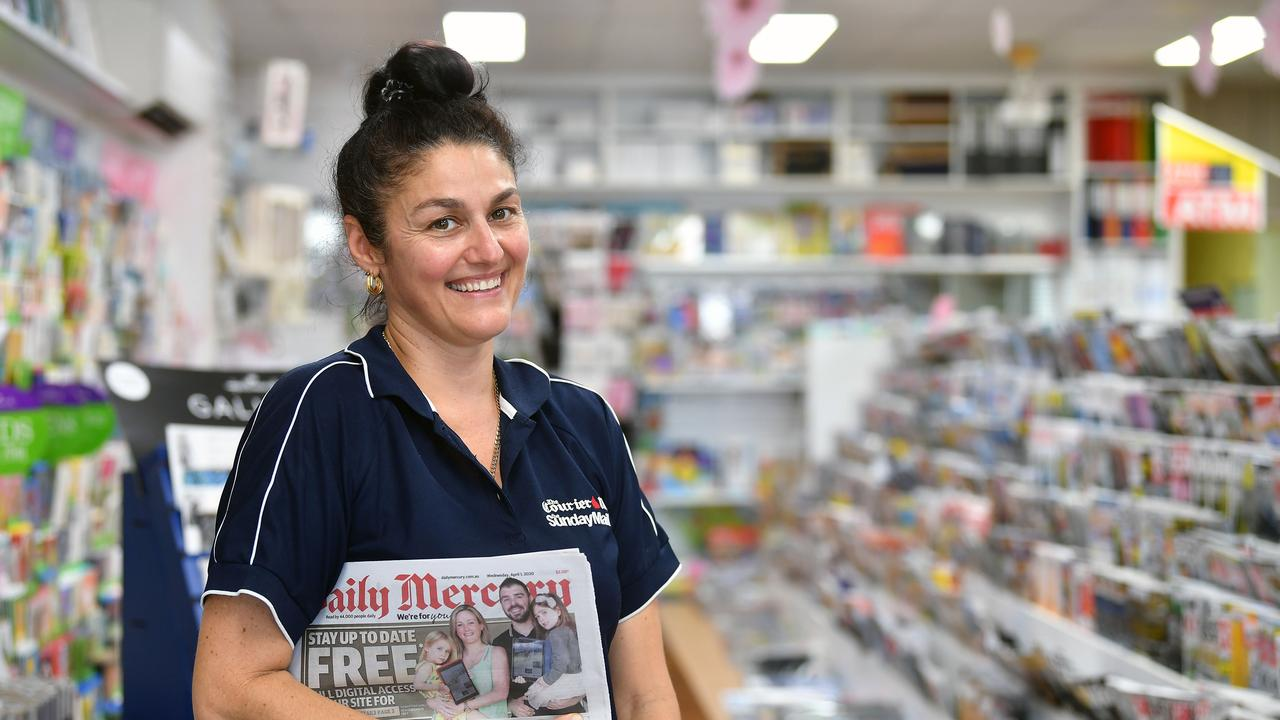 Christine Pashalis from Moore's Newsagency on Shakespeare Street. Picture: Tony Martin