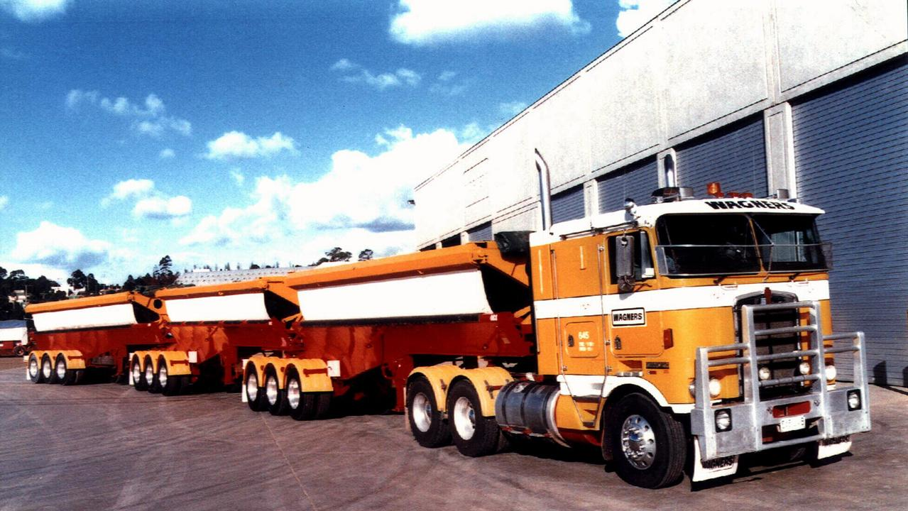 Wagners Transport's Kenworth prime mover in B-triple trial in Qld.