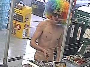 WATCH! Teen brandishes knife in clown wig and red undies