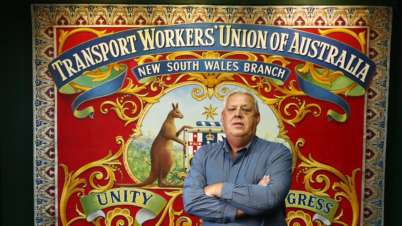 NSW state secretary of the Transport Workers union, Richard Olsen. Picture: John Feder/The Australian.