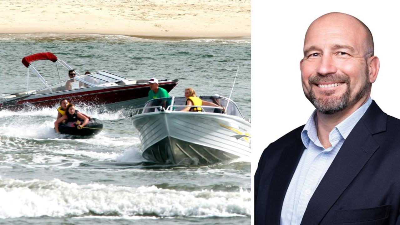 Maritime Safety Queensland's Angus Mitchell is answering questions about Queensland's boating ban. Photo: Courier Mail