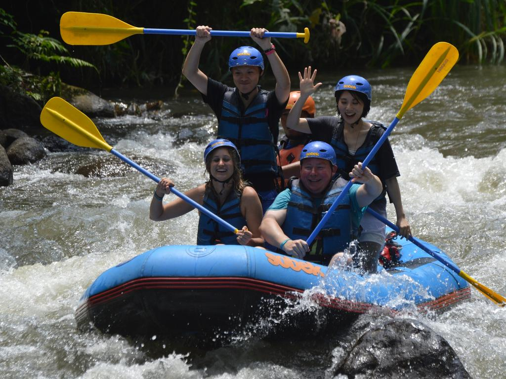 Australian tourists in Bali. Picture: Sobek The Adventure Professionals