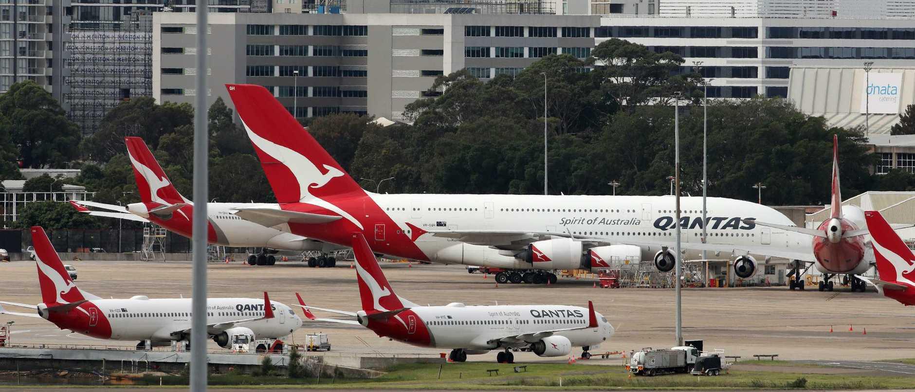 Qantas Planes Park Up