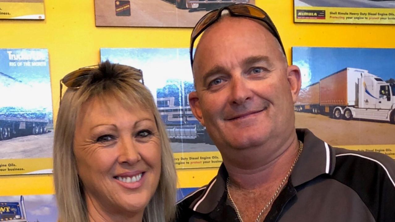 Sharon Hourn and her husband Darren.