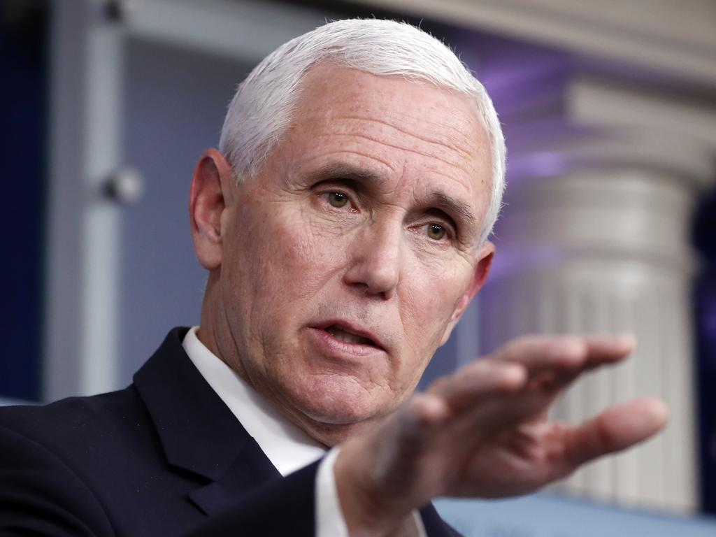 US Vice President Mike Pence. Picture: AP