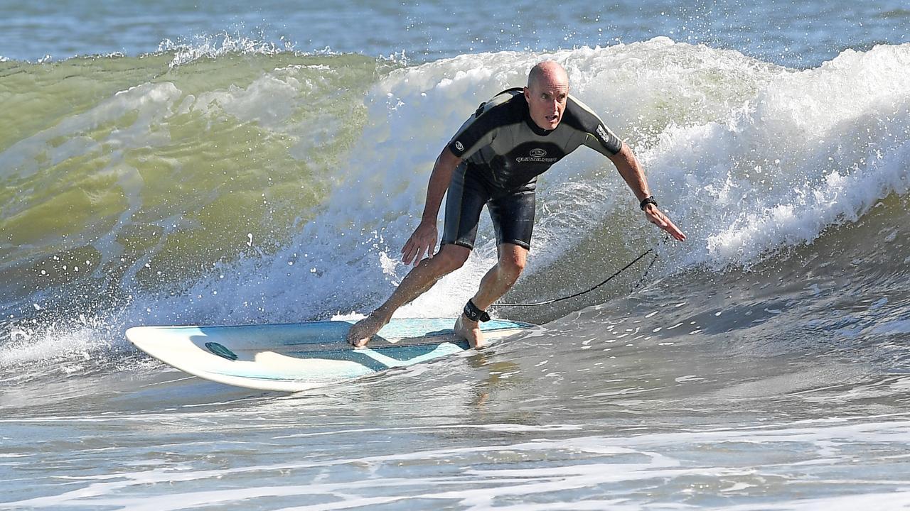 Wave of the day at Alexandra Headland on Wednesday, April 1. Photo Patrick Woods / Sunshine Coast Daily.