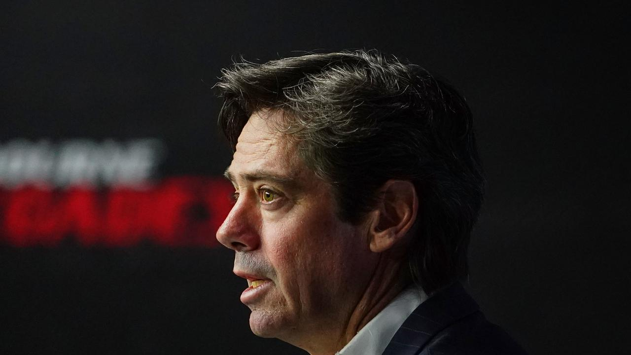 AFL CEO Gillon McLachlan has ruled out a three-game Grand Final series. Picture: AAP Image/Scott Barbour