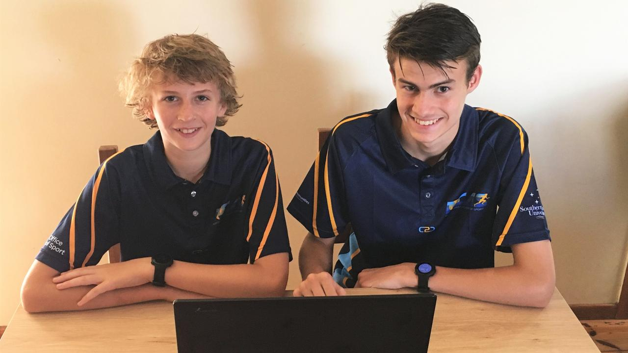 Jye Barlow & Toby Barlow, NCAS Basketball Athletes study the first education module which was released this week.