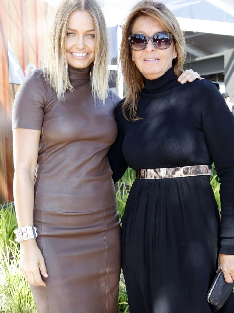 Lara Worthington with her mother Sharon Bingle.