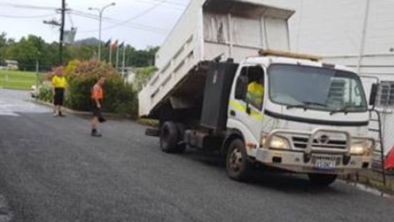 SCAM: Police are seeking information about this truck in relation to recent bitumen scam activity in South East Queensland. Registration plate: SA XS08CI