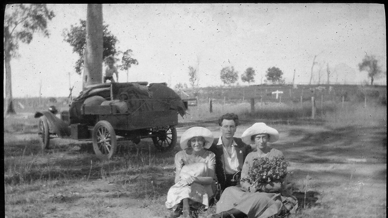 AMAZING FIND: A bag full of photos and photo slides from the 1920s until the 1980s was found on a Brisbane man's property.