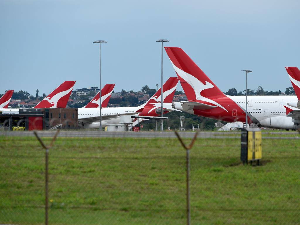 Qantas still has some planes in the air, carrying stranded Aussies home. Picture: AAP