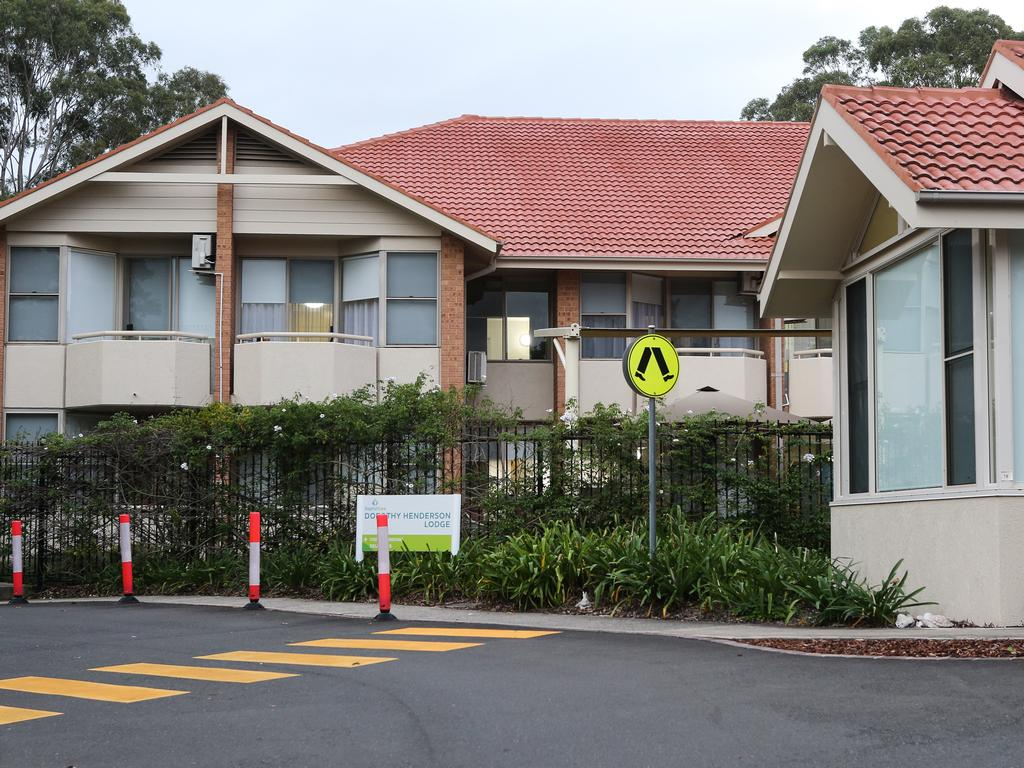 The Dorothy Henderson Lodge aged care facility where four people died from the disease. Picture: Gaye Gerard/ Sunday Telegraph