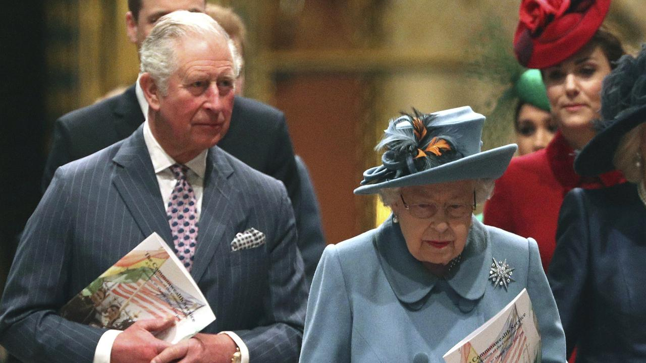 There were initially fears that Charles may have infected the Queen, who he was seen with on March 9 at a Westminster Abbey service. Picture: Yui Mok/PA via AP, File