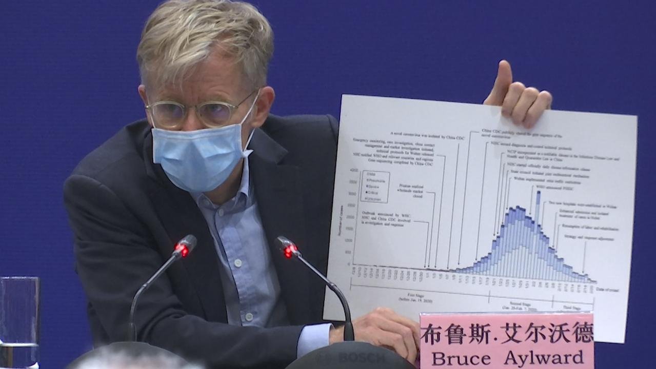 Dr Bruce Aylward during a press conference in Beijing on February 24. Picture: Sam McNeil/AP