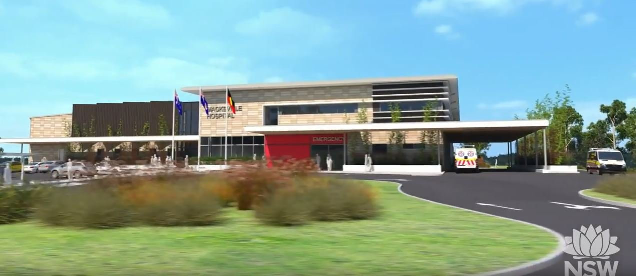 An artist impression of the proposed new Macksville Hospital, released today.