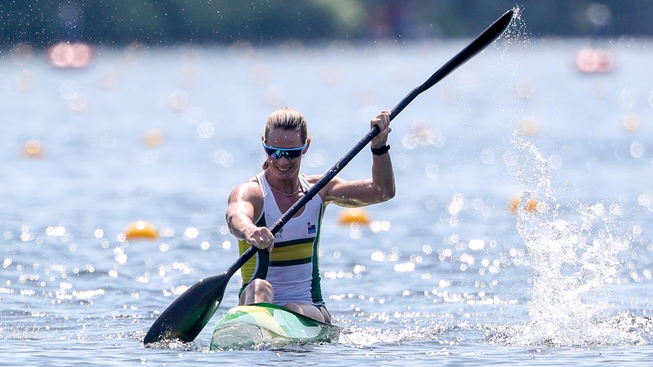 ON THE WATER: Alyce Wood. Picture: Paddle Australia,