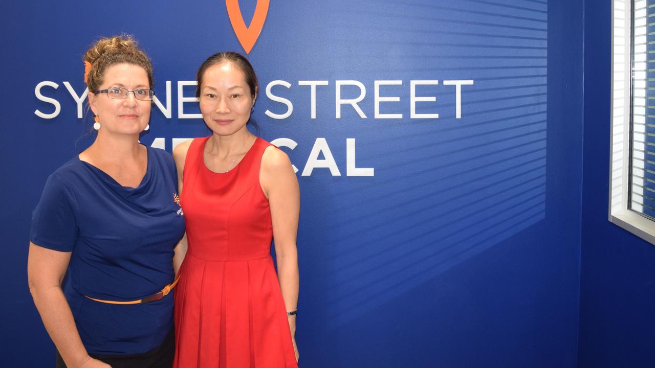 Sydney Street Medical Centre practice manager Emma Pullen and Dr Shuren Taylor