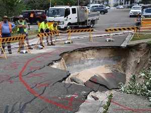 FINAL STAGES: Repairs on giant sink hole take shape