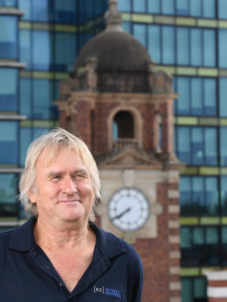 Ipswich clock tower caretaker Neville Olbitzky.