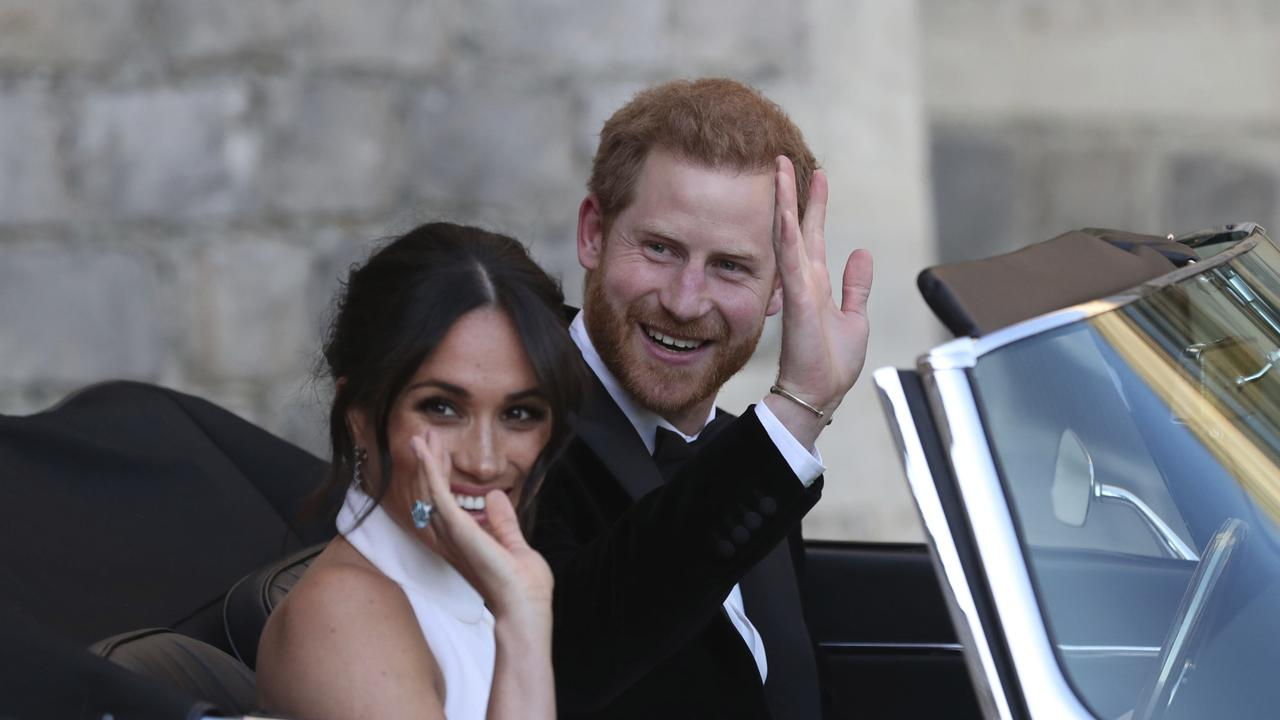 Prince Harry and Meghan Markle are saying goodbye to royal life and hello to Hollywood. Picture: AP