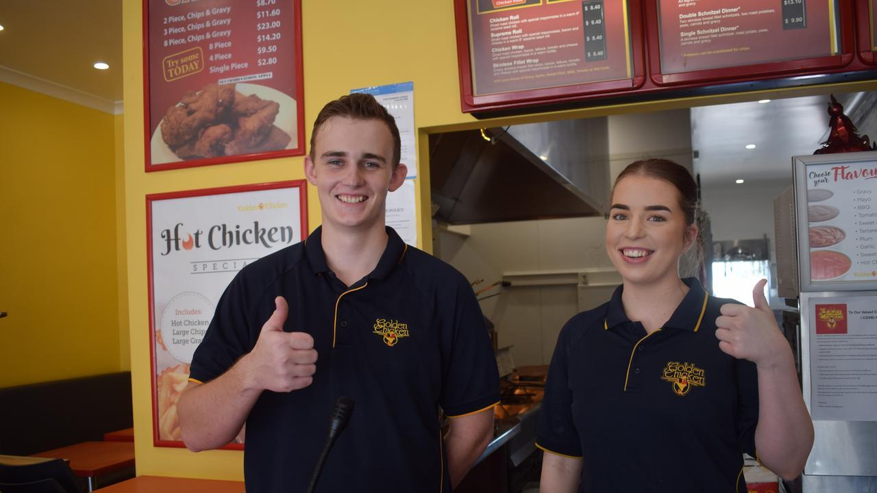 Matt Radford and Laila Mossman at Golden Chicken.