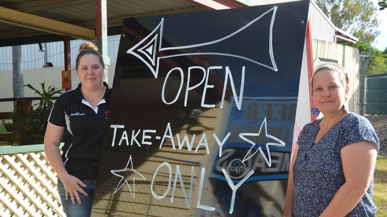 WE'LL BE BACK: The Eidsvold Star Hotel publican Kinta Gitsham and bartender Lani Reid. Picture: Sam Turner