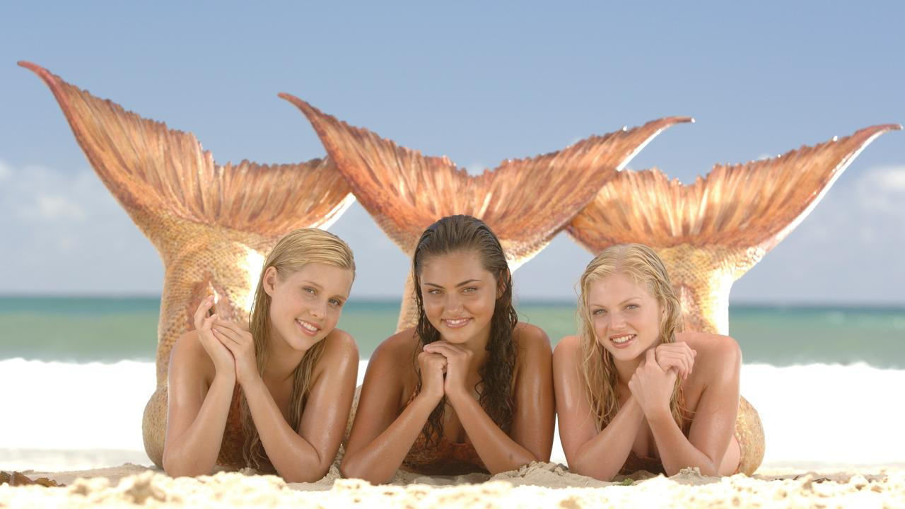 Phoebe Tonkin, centre, made her television debut on the teen series H2O: Just Add Water.