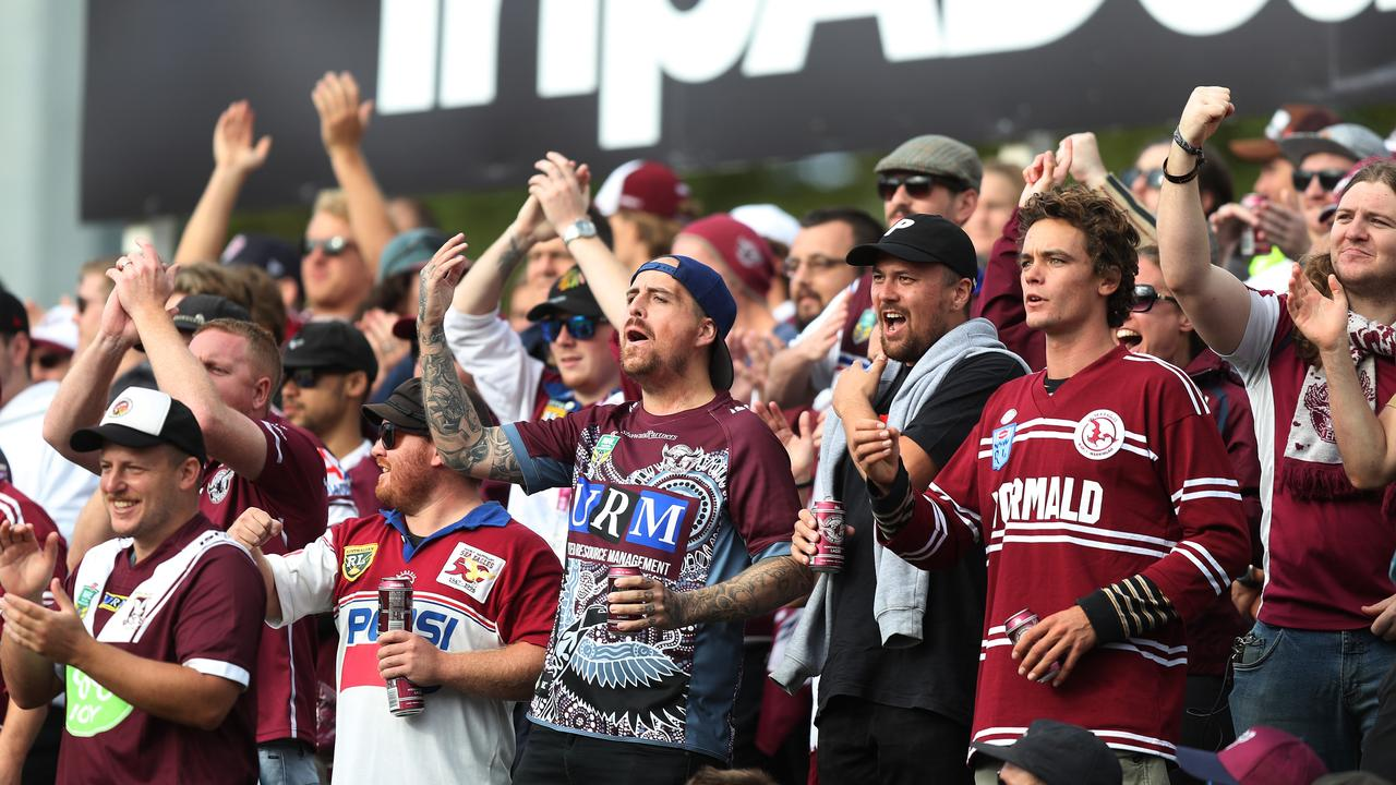 Manly fans have also thrown their support behind the embattled club. Picture: Brett Costello